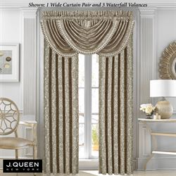 Mirabella Wide Tailored Curtain Pair Light Almond 100 x 84