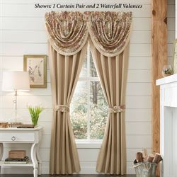 Camille Tailored Curtain Pair Ecru 82 x 84