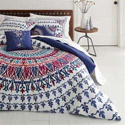 Hanna Medallion Comforter Bed Set Multi Jewel