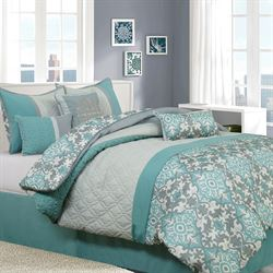 Reina Comforter Bed Set Teal
