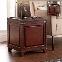 Darington Storage Trunk End Table Dark Cherry