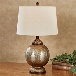 Serval Table Lamp Multi Metallic