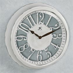 Clearly Chic Wall Clock Antique White