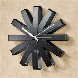 Flex Bent Wall Clock Black
