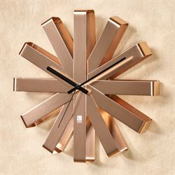 Flex Bent Wall Clock Copper