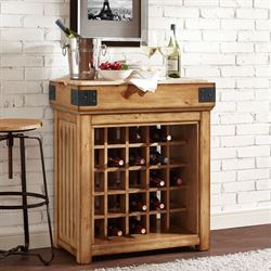 Brendalynn Wine Cabinet Natural Oak
