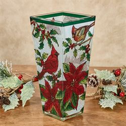 Crimson Christmas Table Vase Red