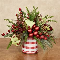 Holly Jolly Centerpiece Red