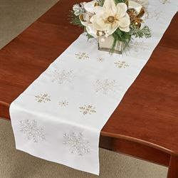 Touch of Gold Table Runner Ivory 16 x 72