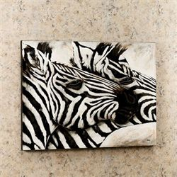 Zebra Duo Canvas Art