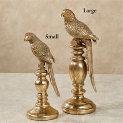 Gracie Parrot Table Sculpture Antique Gold