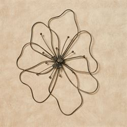 Poppy Flower Wall Art Brown Small