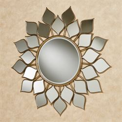 Petal Burst Mirrored Wall Art Clear