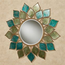 Petal Burst Mirrored Wall Art Multi Cool
