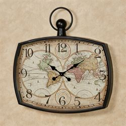World Travels Wall Clock Multi Earth