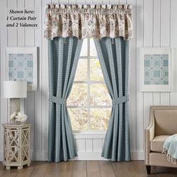 Beckett Tailored Curtain Pair Teal 82 x 84
