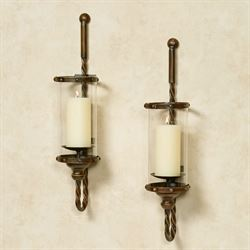 Amancio Wall Sconces Brown 1 pair