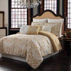 Italia Heritage Damask Comforter Bed Set Amber