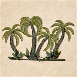 Cocoa Palm Trees Wall Art Green