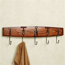 Corkscrew Wall Hook Rack Mission Red Oak