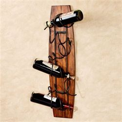 Valley Vines Wall Wine Rack Mission Red Oak