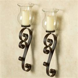 Bradock Rustic Brown Wall Sconce Pair