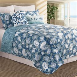 Cape Coral Coastal Quilt Set Indigo