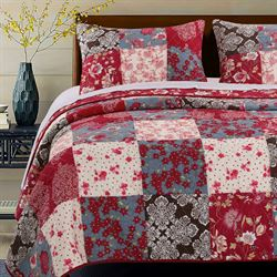 Nicole Quilt Set Red
