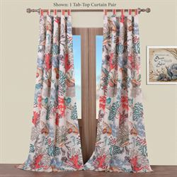 Atlantis Tab Top Curtain Pair Multi Bright 84 x 84