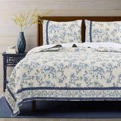 Saffi Quilt Set Blue