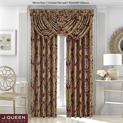 Crimson Wide Tailored Curtain Pair 100 x 84