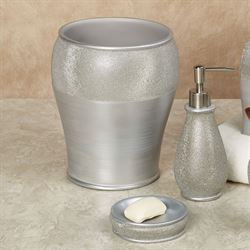 Glimmer Lotion Soap Dispenser Silver Gray