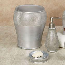 Glimmer Lotion Soap Dispenser Silver Gray