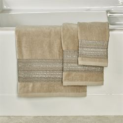 Fiore Bath Towel Set Light Taupe Bath Hand Fingertip