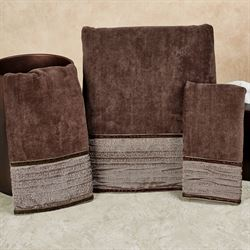 Veruka Bath Towel Set Bronze Bath Hand Fingertip