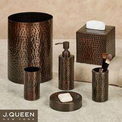 Pressed Metal Bronze Bath Accessories By J Queen New York