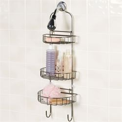 Adjustable Shower Caddy Black Chrome
