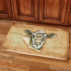Dairy Cow Cushioned Mat Buff 36 x 23