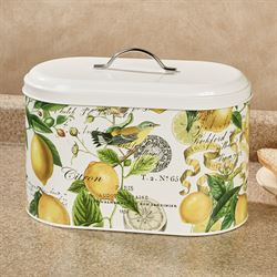 Lemon Basil Bread Bin Yellow