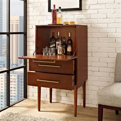 Jennings Mini Bar Cabinet Rich Mahogany