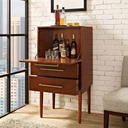 Jennings Mini Bar Cabinet Rich Mahogany