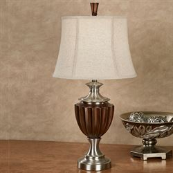 Cannel Table Lamp Brushed Steel