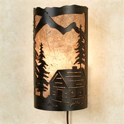 Cabin Shadows Wall Lamp Bronze