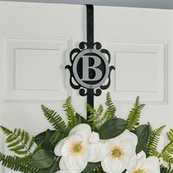 Overture Monogram Wreath Hanger Silver/Black