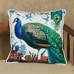 Bohemia Peacock Decorative Pillow Multi Jewel 18 Square