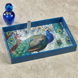 Bohemia Peacock Vanity Tray Multi Jewel