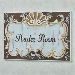Emelia Powder Room Wall Plaque Multi Cool
