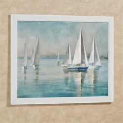 Sailboats at Sunrise Framed Wall Art Multi Cool