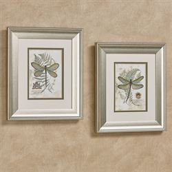 Dragonfly Framed Wall Art Fern Set of Two