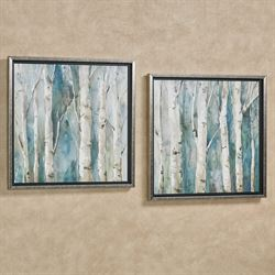 River Birch Framed Wall Art Multi Cool Set of Two